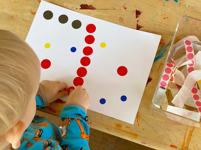 Otto black and white contrast painting at How we Montessori