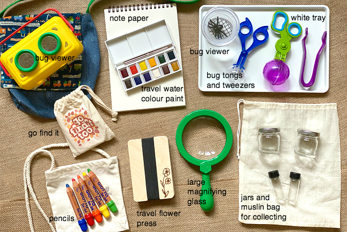 How we Montessori nature forest explorer learning bag toddler