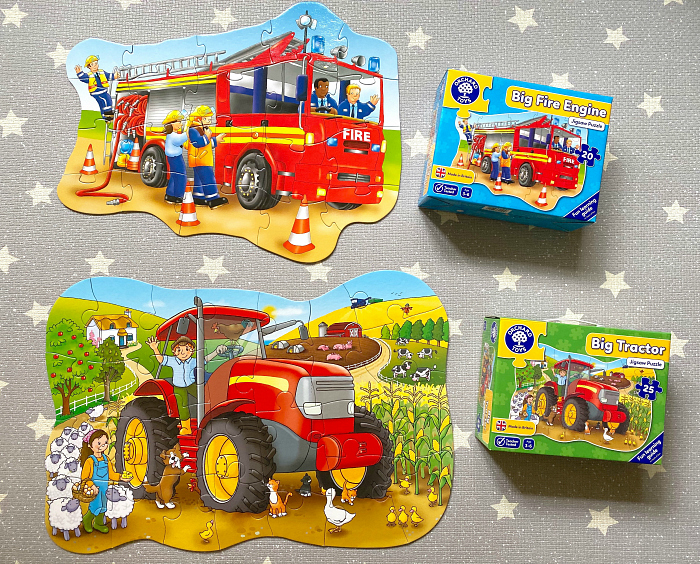 Orchard Fire Engine Floor puzzle at How we Montessori toddler puzzles