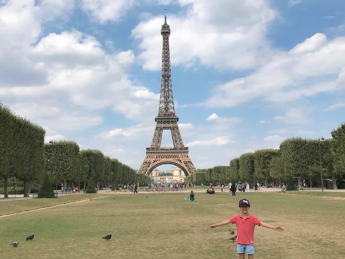 Otis at Eiffel Tower Paris at How we Montessori