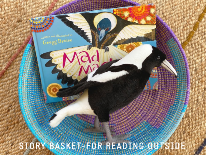 Magpie Story Basket at How we Montessori toddler (2)