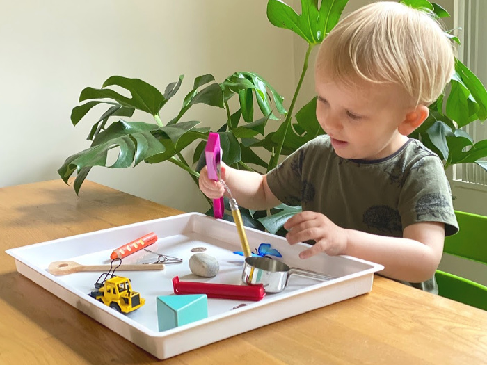 How we Montessori toddler activities use what you have