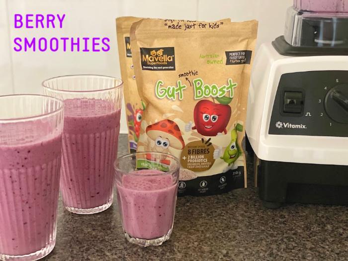 Berry smoothies at How we Montessori probiotics (2)