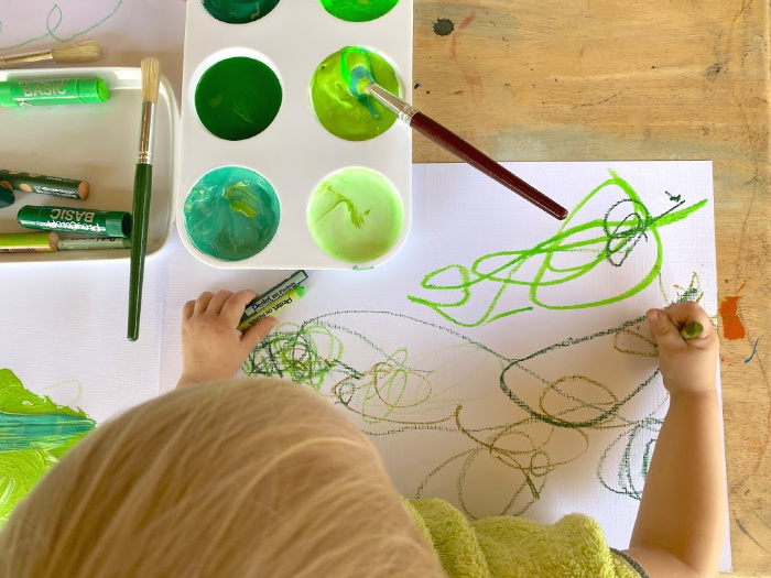 Exploring everything green at How we Montessori (1)