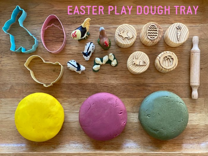 EASTER PLAY DOUGH TRAY AT HOW WE MONTESSORI (2)