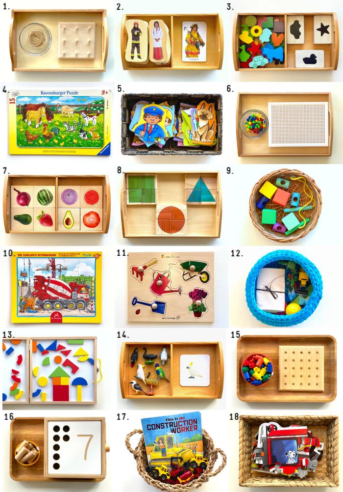How we Montessori Toddler Shelf Work at 2 Years (1)
