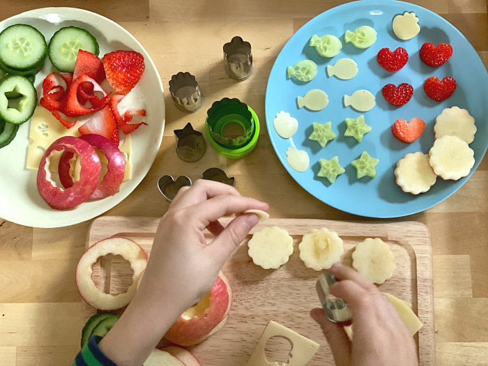 How we Montessori ways to use cookie cutters with fruit