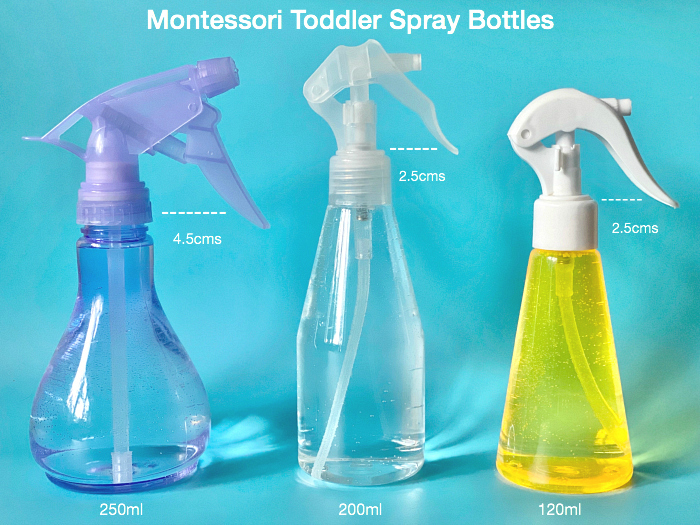 Montessori Toddler Spray Bottles at How we Montessori