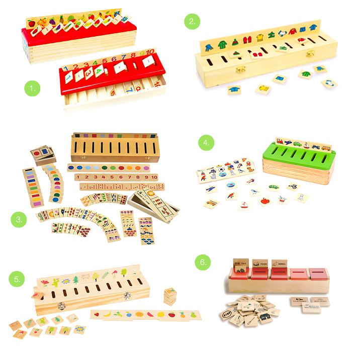 Montessori Sorting Boxes at How we Montessori toddler sorting and posting