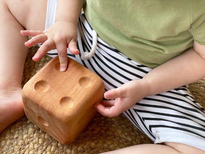 Counting at How we Montessori toddler