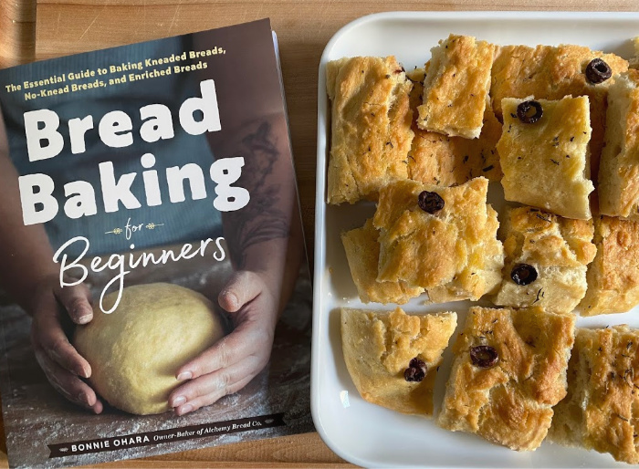 Otis' focaccia at How we Montessori  Bread Baking for Beginners