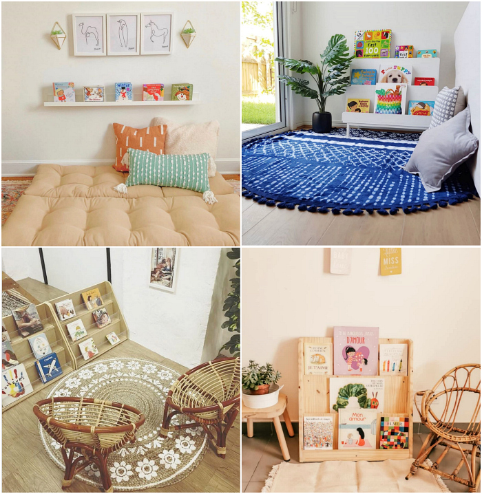 Real and Beautiful Montessori Reading Areas at How we Montessori
