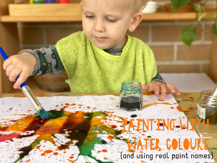 Toddler water colour paints at How we Montessori Otto 2 years (2)