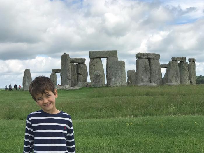 Otis at Stonehenge at How we Montessori