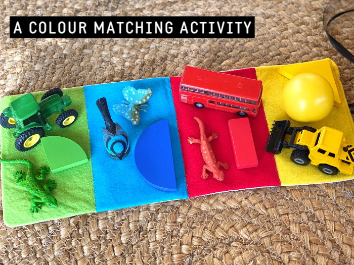 How we Montessori colour matching activity at two years (1)