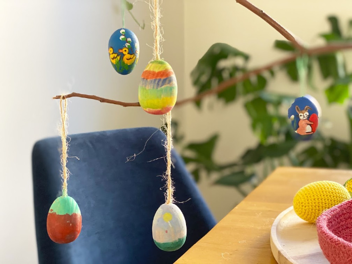 Easter tree at how we montessori