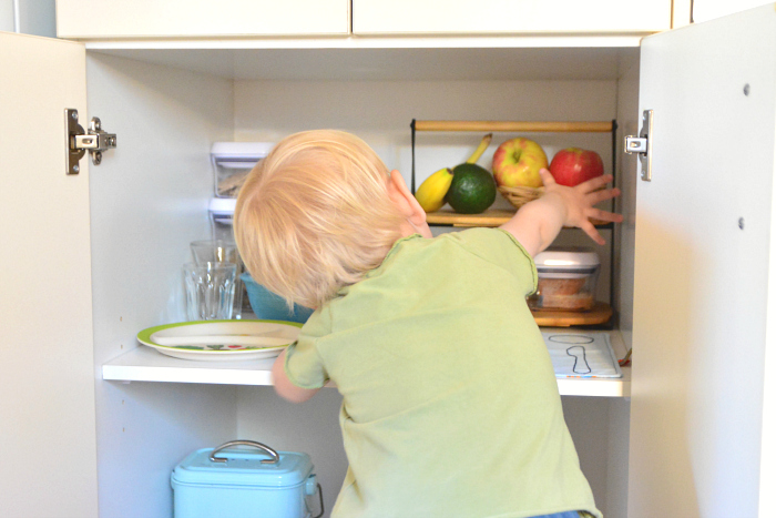 How we Montessori Otto toddler snack cupboard 2020 Sydney
