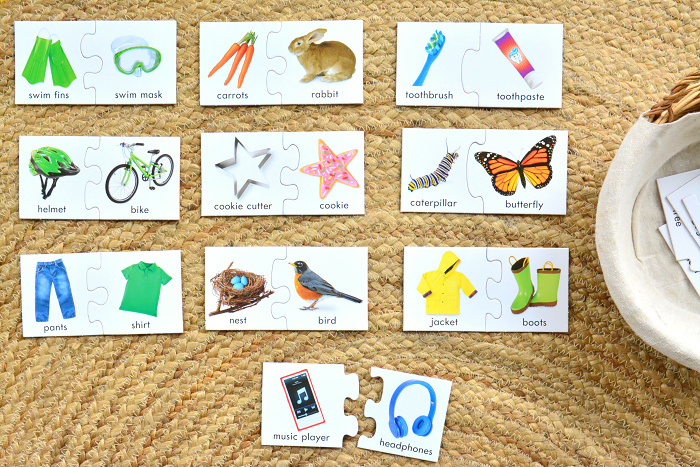 What goes together puzzles at How we Montessori