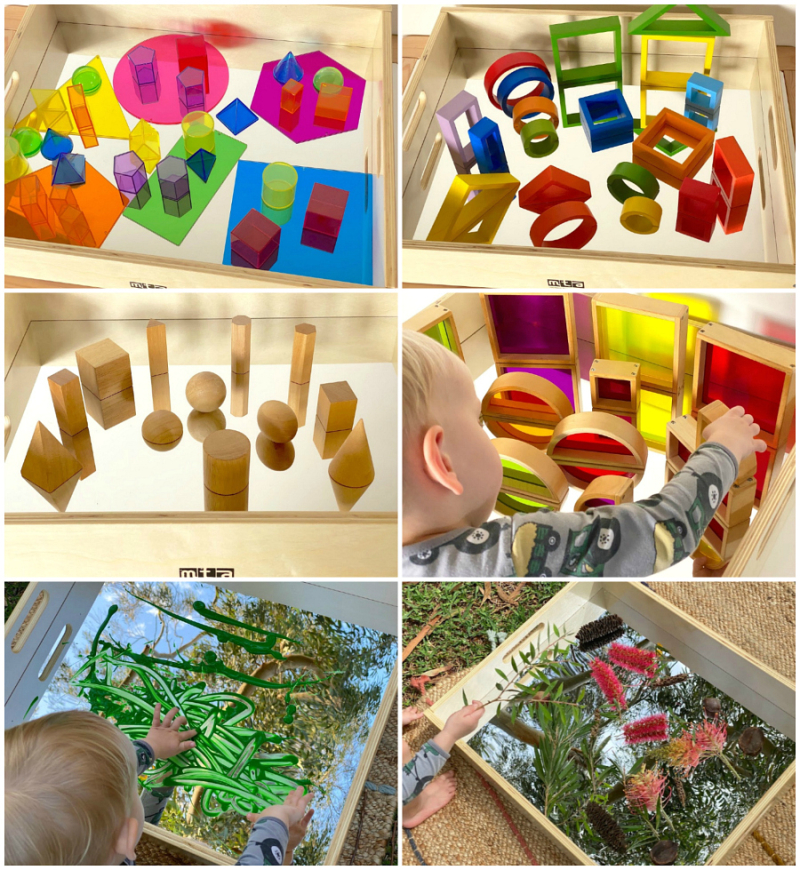 How we Montessori Mirrors exploration of light and reflection