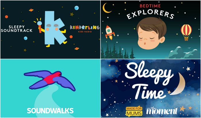 Sleepy and Bedtime podcasts for Montessori kids