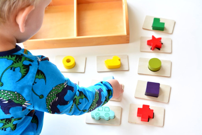 Touch and Feel toy for two year old at How we Montessori