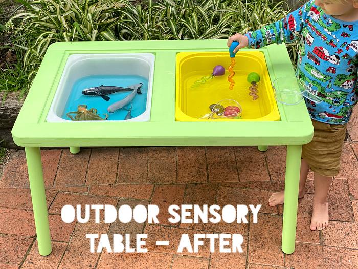 Diy Ikea Flisat Outdoor Sensory Table, Ikea Childrens Outdoor Furniture Uk
