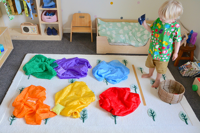 Bean bags for throwing and learning at How we Montessori