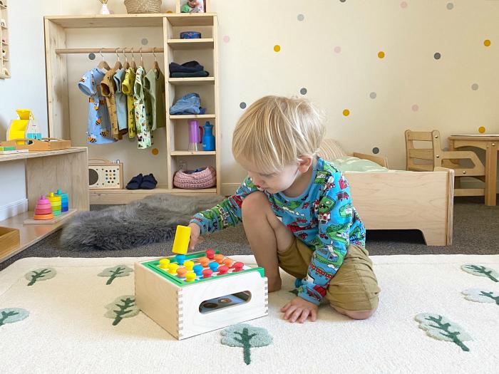 How we Montessori toddler reading corner Sydney Australia