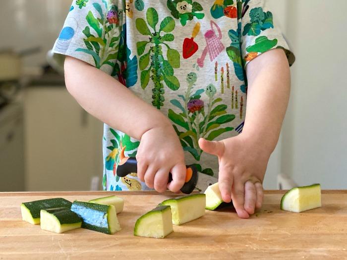 Montessori Toddler Knife at How we Montessori