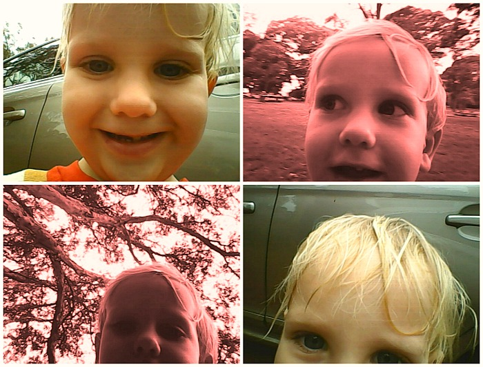 Introducing children to photography Otto selfies 3 years at How we Montessori