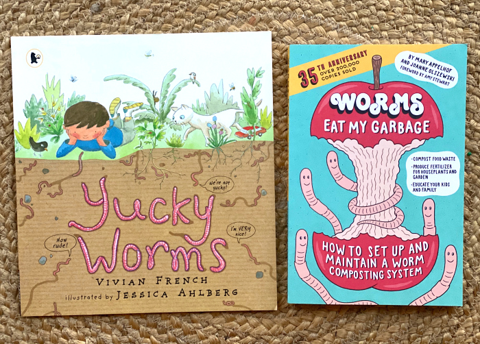 How we Montessori books about worms and worm farms for kids