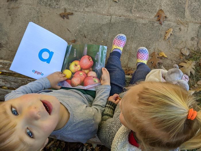 Montessori abc's at How we Montessori  alphabet book