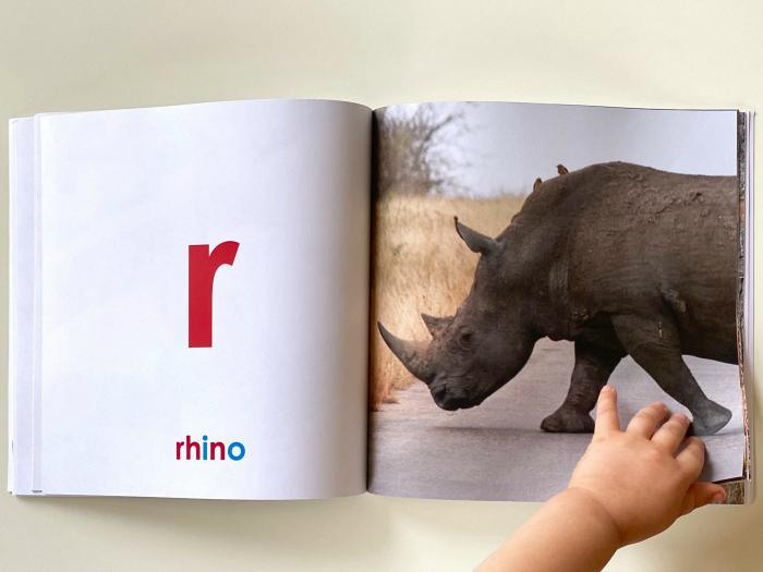 Montessori alphabet book b at How we Montessori