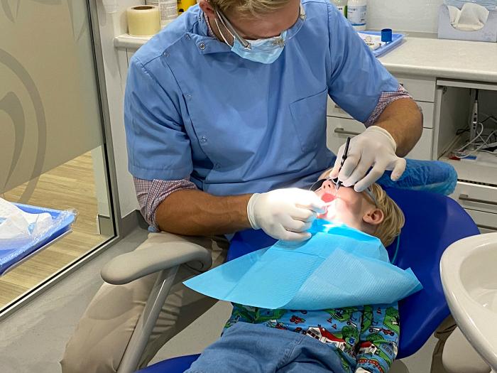 Otto dentist visit at How we Montessori at three years Sydney