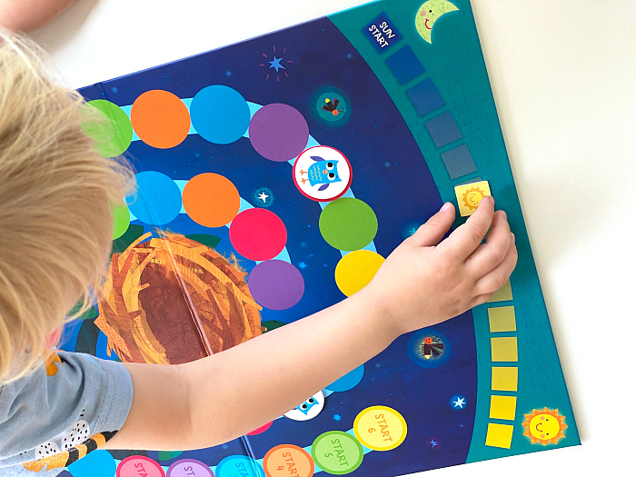 Hoot Owl Hoot at How we Montessori three year old board game