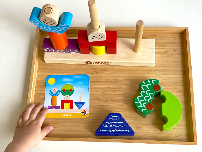 Day and Night Cognitive Development game three year old toy at How we Montessori