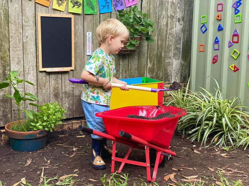 Montessori gardening activities at How we Montessori SYdney