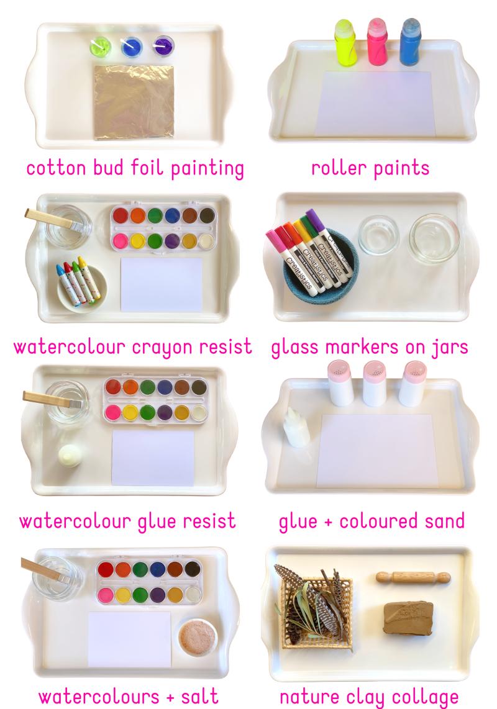Montessori Preschooler Art Trays at three years How we Montessori 2020