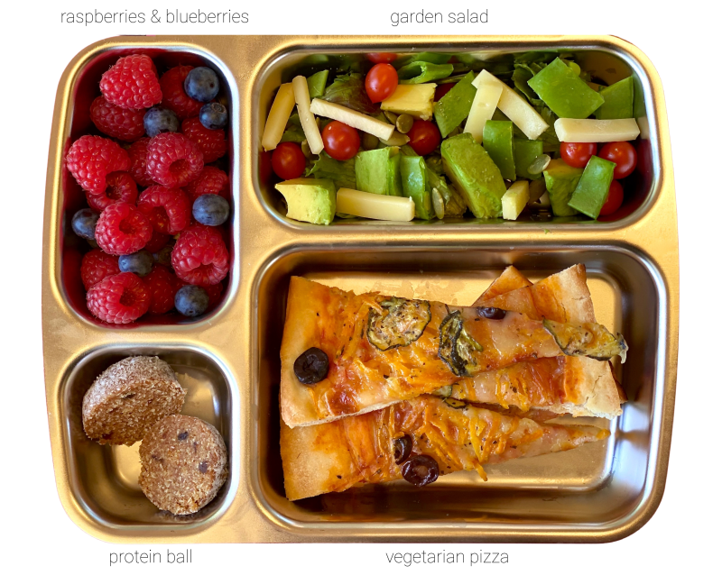 Seed sprout lunchbox at how we montessori lunch three year old