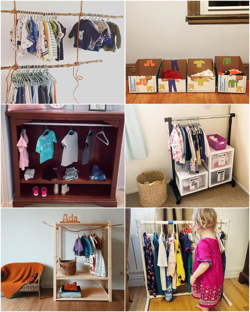 Low to No Cost Montessori Wardrobes 2021