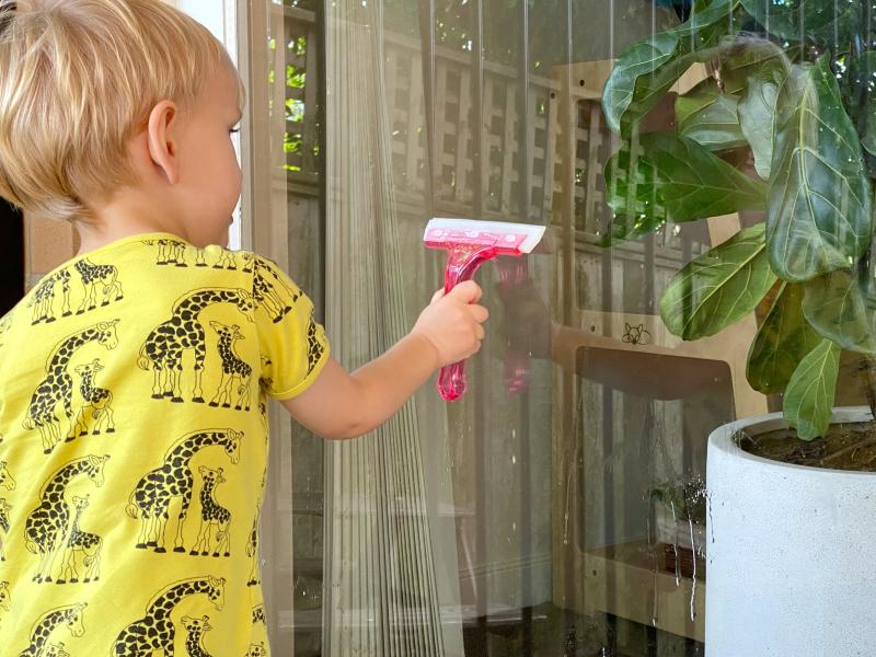 Montessori practical life windows