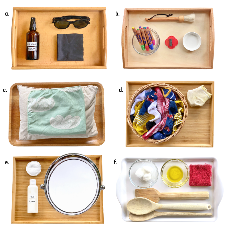 Useful practical life activities tray Montessori home (1)