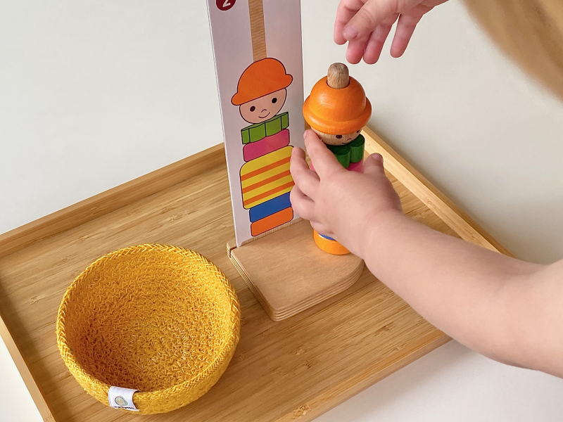 Giant stacking toy at How we Montessori