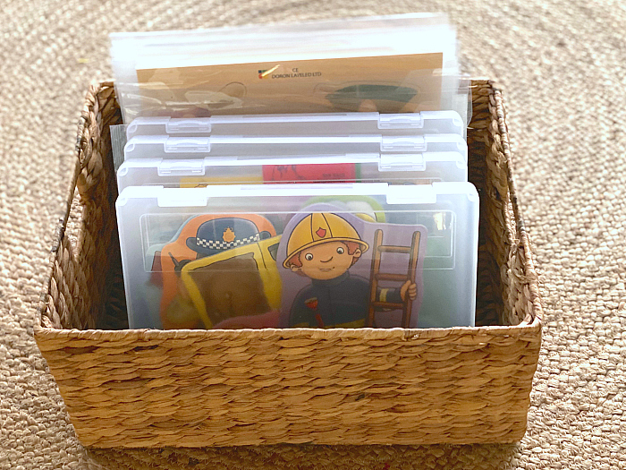 How we store puzzles at How we Montessori document packets