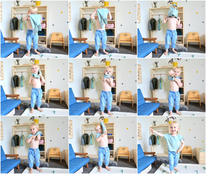 How we Montessori Otto 2.5 years getting dressed independently_ Montessori toddler