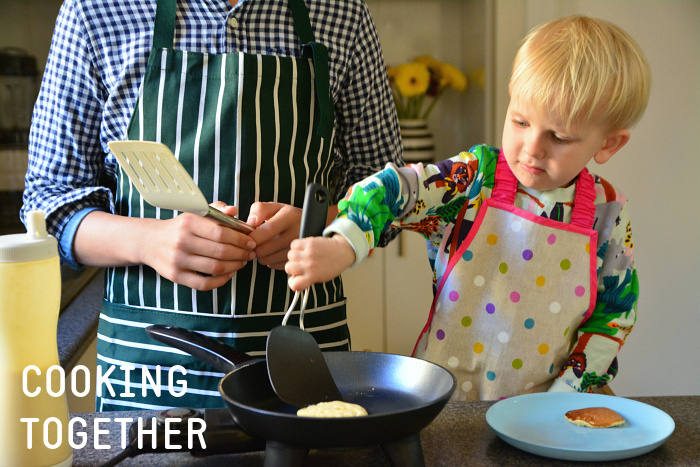 CASPAR AND OTTO COOKING PANCAKES TOGETHER AT HOW WE MONTESSORI