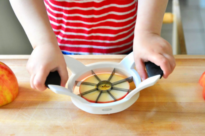 Kids Kitchen Tools at How we Montessori Apple Slicer