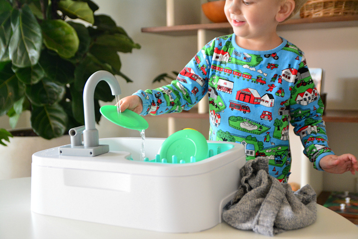 Lovevery sink at How we Montessori Otto two year old