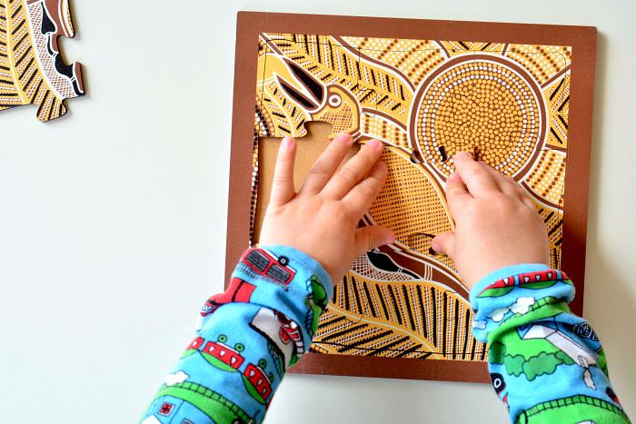 How we Montessori Kangaroo Indigenous Puzzle at How we Montessori