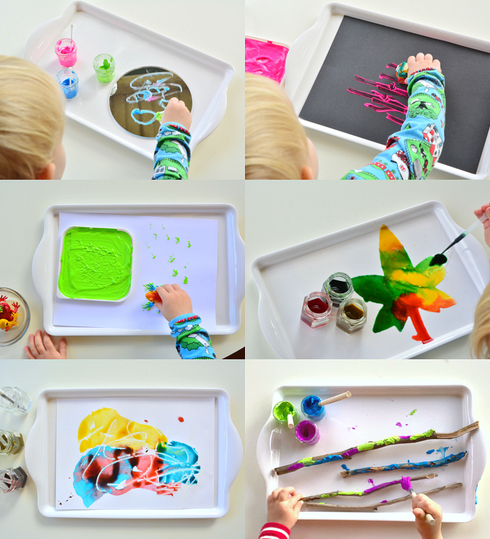 How we Montessori Toddler Art Trays Otto 2.5yrs 2020